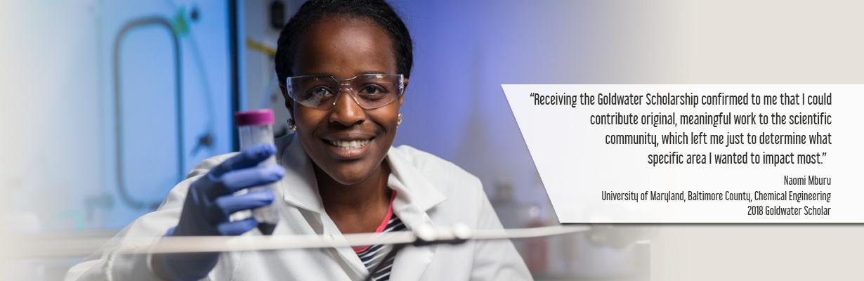 Naomi Mburu 2018 Goldwater Scholar